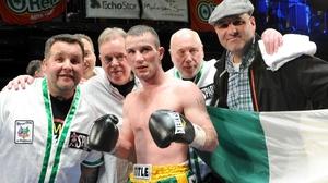 John Joe Nevin celebrates winning his first professional fight