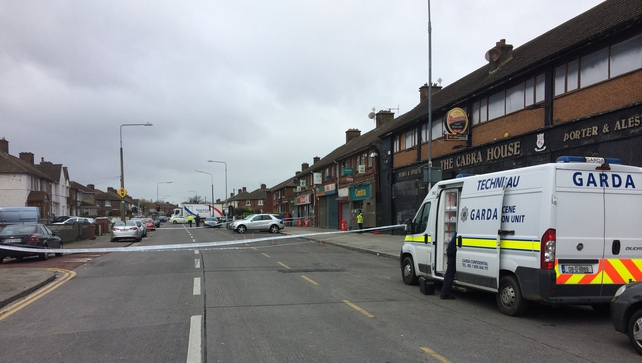 The scene of the incident in Cabra on Tuesday morning