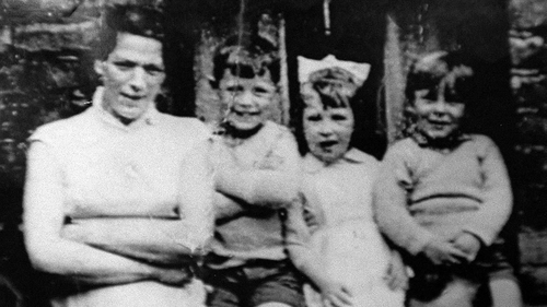 Jean McConville pictured with three of her children before she vanished in 1972