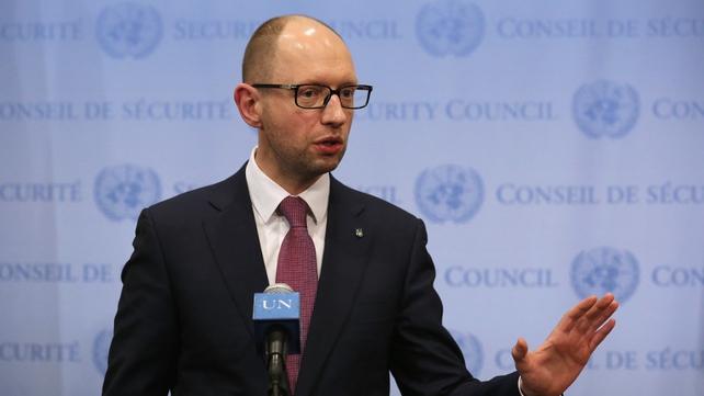 Ukrainian Prime Minister Arseny Yatsenyuk has tendered his resignation