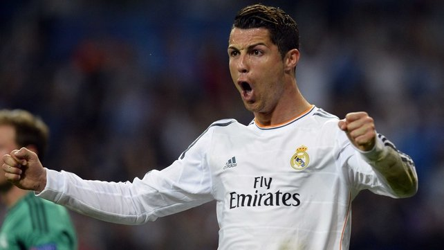 Cristiano Ronaldo opened the scoring against Schalke with his 40th strike of the season