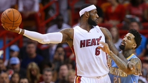 LeBron James victorious over his former team Cleveland