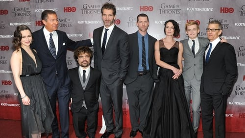 Emilia Clarke, Richard Plepler, Peter Dinklage, David Benioff, D.B. Weiss, Lena Headey, Jack Gleeson and Michael Lombardo