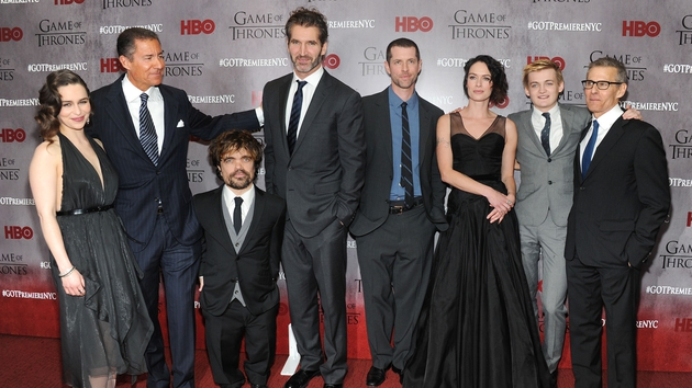 Emilia Clarke, Richard Plepler, Peter Dinklage, David Benioff, D.B. Weiss, Lena Headey, Jack Gleeson and Michael Lombardo