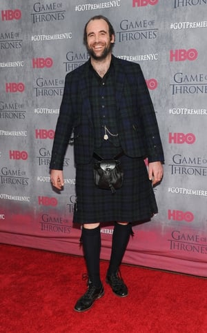 Rory McCann - the not usually cheerful Sandor The Hound Clegane