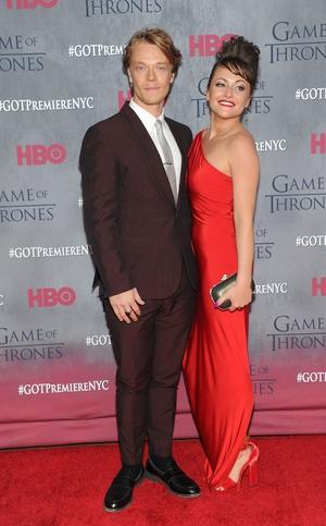 Alfie Allen (Theon Greyjoy) with Jaime Winstone