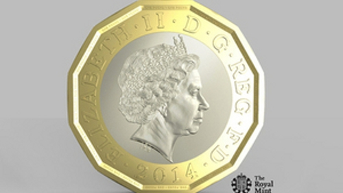 One pound coin set to be replaced with a 12-sided piece that will be harder to fake