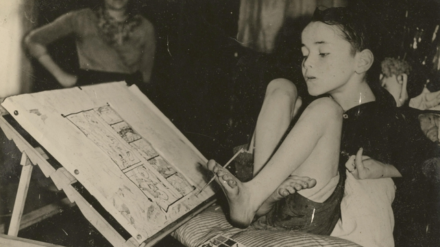 Brown became an acclaimed writer and artist after he learned to draw and write using his left foot