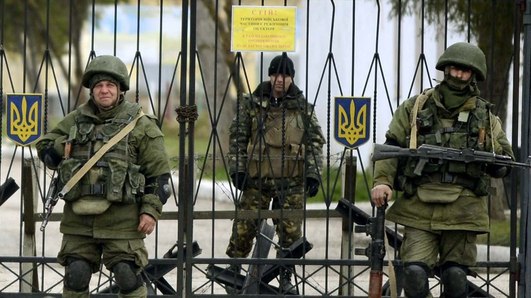 Naval bases topple in Crimea