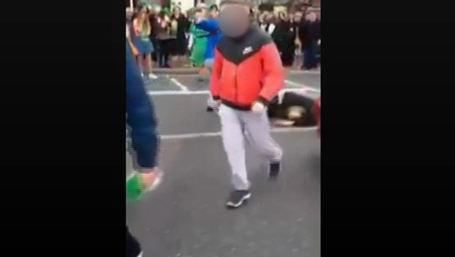 An investigation is under way after a video apparently showing a man being kicked in the head