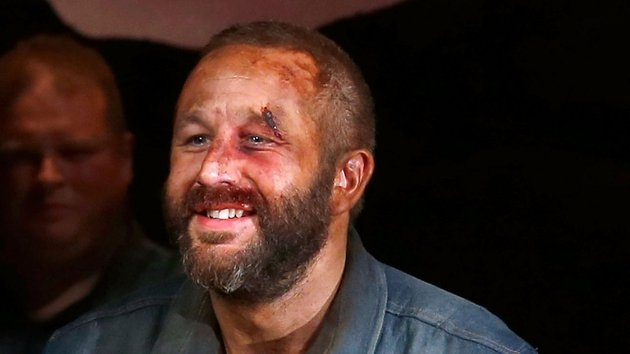Chris O'Dowd stars as Lennie Small in Of Mice and Men on Broadway