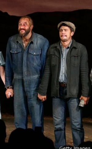 Chris O'Dowd made his Broadway debut alongside James Franco in the Of Mice and Men