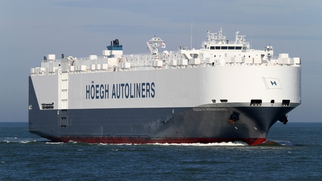 The Hoegh St Petersburg, which was on its way from Madagascar to Melbourne, has joined the search (Pic: EPA)