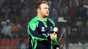Paul Stirling had to retire hurt during Ireland's win over UAE