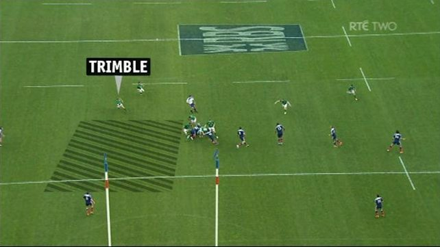Trimble try: Ireland created space down the right