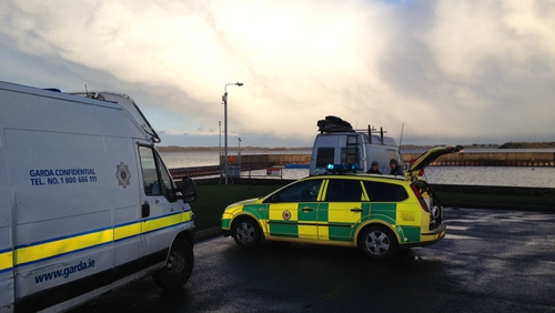 Emergency services are at the scene of the search on Lough Ree