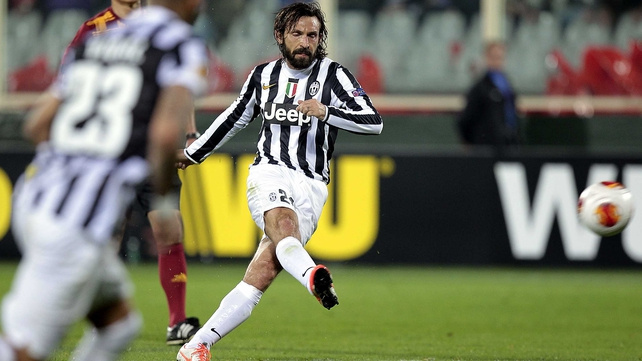 Andrea Pirlo's free-kick gave Juve victory over Serie A rivals Fiorentina