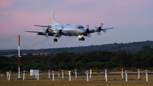 Four aircraft were tasked by Australian authorities to search the area