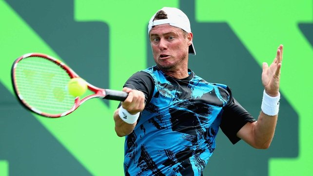 Lleyton Hewitt in action in Miami