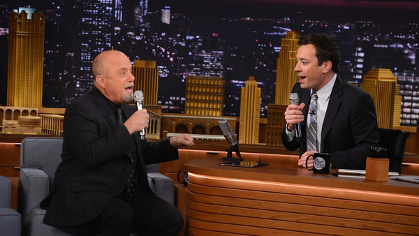 Jimmy Fallon and Billy Joel doo-wop to The Lion Sleeps Tonight