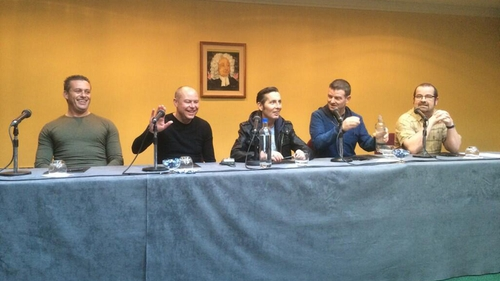 © (@SineadCrowley) Aslan at the press conference in the Gresham Hotel