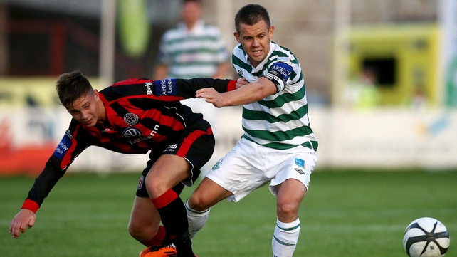Luke Byrne moved from Bohs to Shamrock Rovers in the off-season and is likely to face his former club tonight