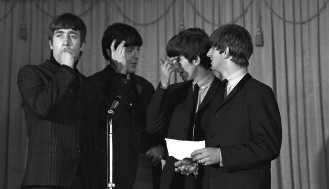 The Beatles at the Gresham Hotel, Dublin (1963)