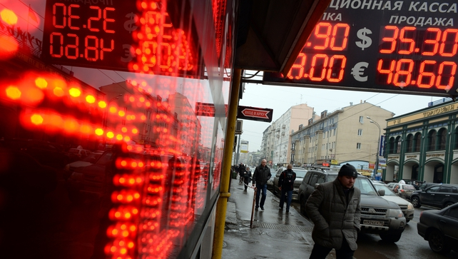 Markets fear an escalation of measures that would choke payments and trade with Russia