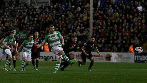Gary McCabe slots home a first-half penalty for Rovers