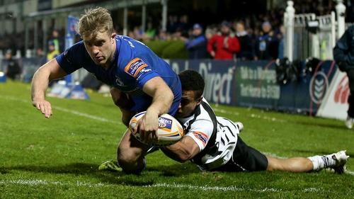 Luke Fitzgerald scores Leinster's third try