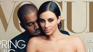 Kanye West and Kim Kardashian on the cover of Vogue