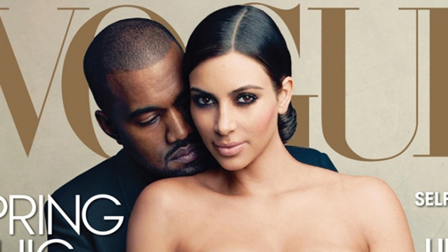 Kanye West and Kim Kardashian's Vogue cover