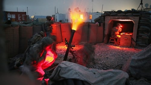 Soldiers with the US Army's 3rd Brigade Combat Team, 10th Mountain Division fire a mortar round during a training exercise