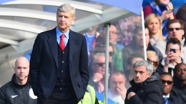 Jose Mourinho left before the end of the match without shaking Arsene Wenger's hand