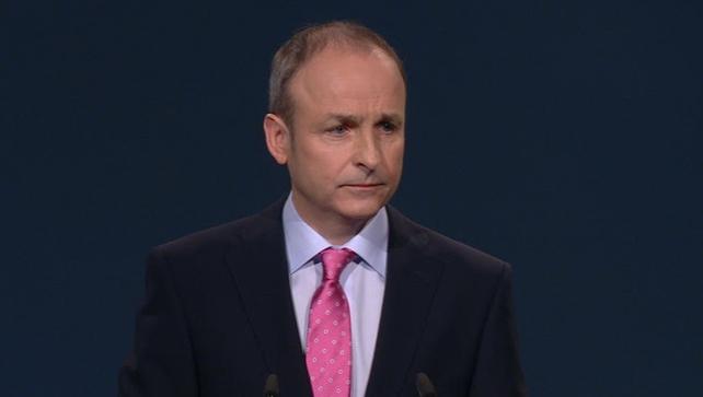 Micheál Martin gave his address to the delegates at the 75th Fianna Fáil Ard Fheis