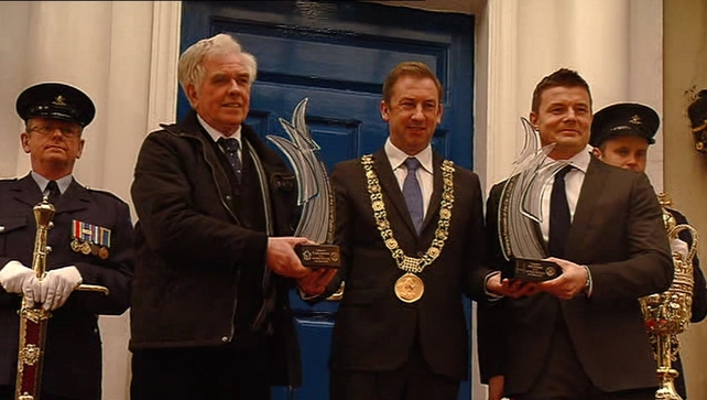 The Lord Mayor said Peter McVerry (L) and Brian ODriscoll are two individuals who are a fantastic inspiration to everyone