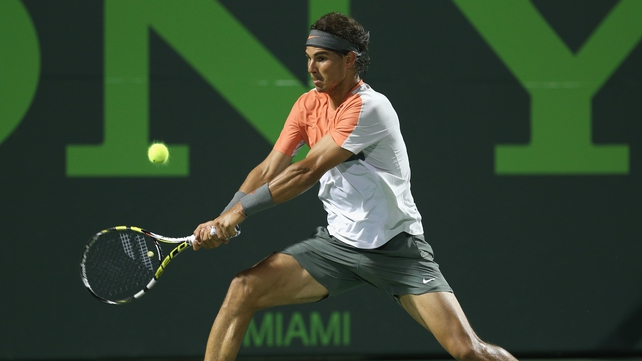 Rafael Nadal took little over an hour to see off Lleyton Hewitt
