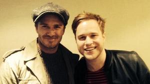 David Beckham and Olly Murs