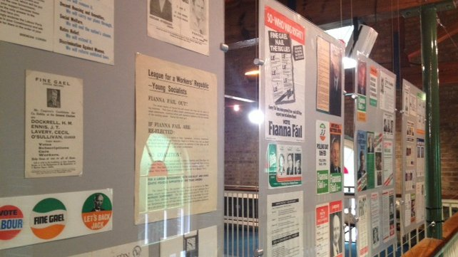 The exhibition documents the parties and personalities that changed Irish political, social and economic life