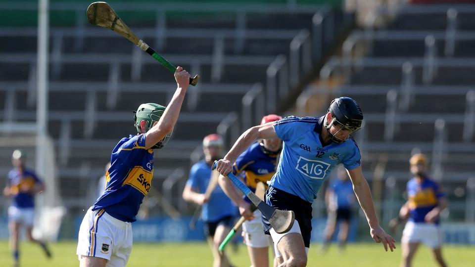 Cathal Barrett tries to block down Dublin's Danny Sutcliffe