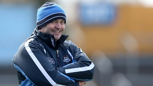 Dublin manager Anthony Daly also finds something to smile about during the Tipperary v Dublin clash