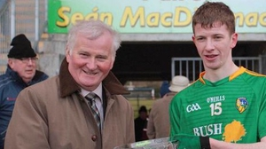 Leitrim's Niall Brady was named Man of the Match (Picture from the Leitrim GAA Twitter page)