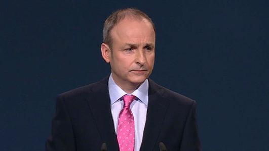 Mícheál Martin, TD; Ceannaire Fhianna Fáil.