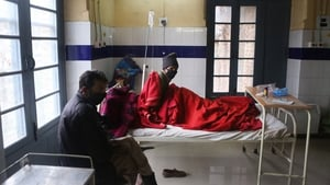 Patients wait for treatment in a Tuberculosis hospital Srinagar, the summer capital of Indian Kashmir (Pic: EPA)