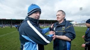 Dublin manager Anthony Daly (L) and Tipperary's Eamon O'Shea