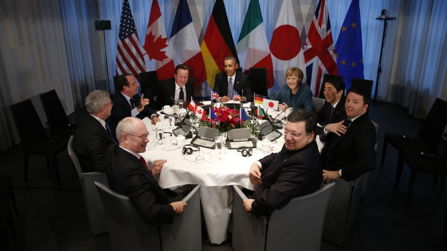G7 leaders hold talks on response to Russia's annexation of Crimea