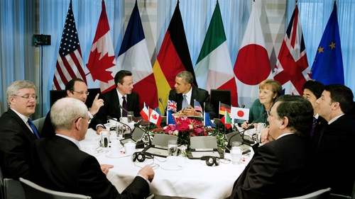 G7 leaders in talks on response to Russia's annexation of Crimea