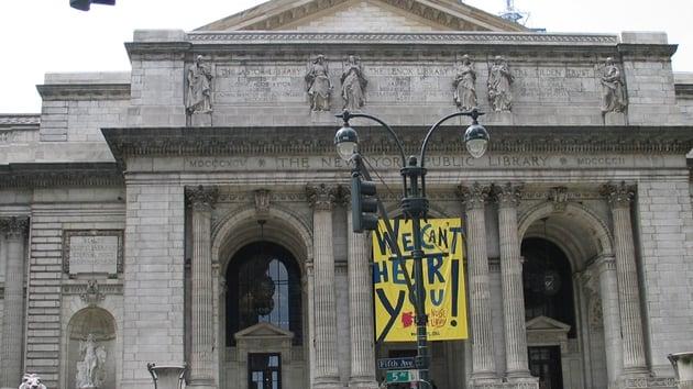 New York Library: Lucky recipient