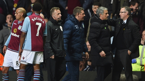 Jose Mourinho was sent from the touchline in the final moments