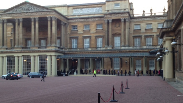 Guests arriving at Buckingham Palace this evening